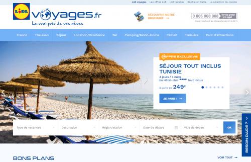Lidl, Voyage, Internet