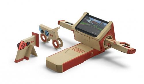 Nitendo, Labo, jouets, carton, construire, Switch